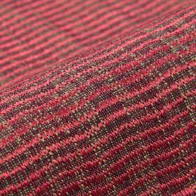 Flow CS - Pink - Rose pink and mid-grey coloured, slightly textured wavy lines patterning fabric made entirely from Trevira CS