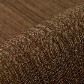 Congada CS - Chocolate (12) - Fabric woven from 100% Trevira CS using threads in dark brown and light cream colours