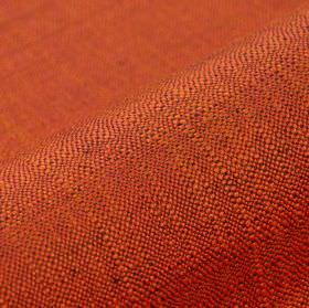 Congada CS - Orange (14) - Bright orange and purple coloured threads woven into an otherwise plain 100% Trevira CS fabric