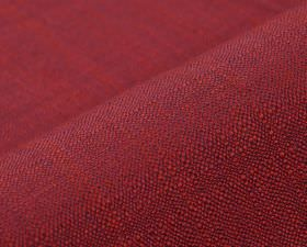 Congada CS - Red (15) - Bright red 100% Trevira CS threads woven with some in a deep blue colour to create an unpatterned fabric
