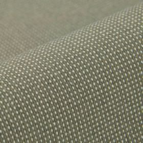 Popping CS - Grey - A small, simple, iron grey coloured grid against a white 100% Trevira CS fabric background