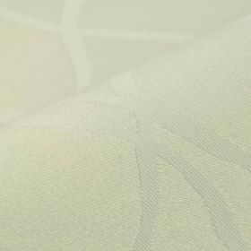 Giron CS - Cream (1) - Very subtly patterned white coloured 100% Trevira CS fabric
