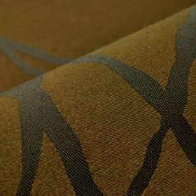 Giron CS - Brown (5) - Simple dark grey lines crossing over each other on fabric made from 100% Trevira CS in wafer brown