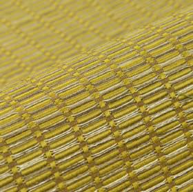 Terbium - Gold (8) - Light yellow and silver fabric made from several materials, with a repeated, small, slightly raised design of rectangle