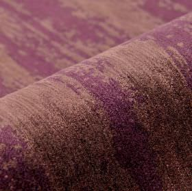 Monel - Purple - Polyester and viscose blend fabric covered with uneven patches in lavender and lilac shades of purple