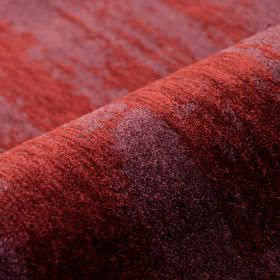 Monel - Red - Fabric made from polyester and viscose, featuring a patchily coloured finish in dusky red and purple shades