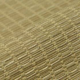 Terbium - Gold Beige (3) - Fabric made from several different materials in cream-beige patterned with rows of tiny, very slightly raised rec