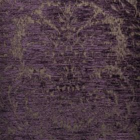 Jockey - Purple (13) - Indigo and silver coloured ornate jacquard patterns covering fabric blended from polyester and viscose-chenille
