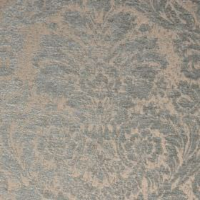 Jockey - Blue Beige (18) - Polyester and viscose-chenille blend fabric made with an ornate jacquard style pattern in pale shades of blue and