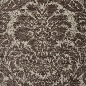 Jockey - Brown Cream (20) - Fabric made from dark and light grey coloured polyester and viscose-chenille with an ornate jacquard style print