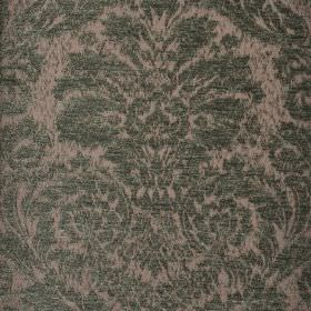Jockey - Green (5) - Light and mid-grey coloured polyester and viscose-chenille blend fabric patterned with an ornate jacquard style print