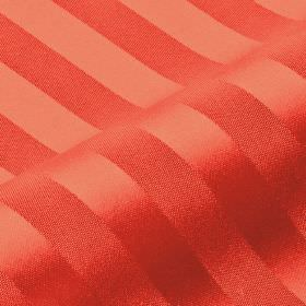 Lavina Stripe - Red - Simply striped 100% Trevira CS fabric made with alternating shiny and matt bands, both made in a salmon pink colour