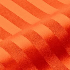 Lavina Stripe - Orange (118) - A slight sheen covering dark orange coloured stripes on a matching 100% Trevira CS fabric background