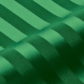 Lavina Stripe - Green (130) - Bright emerald green coloured, subtly striped 100% Trevira CS fabric, featuring a design of bands with a sligh