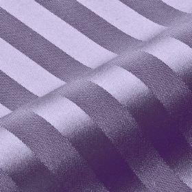 Lavina Stripe - Purple (136) - Rich lavender coloured fabric made from slightly shiny, subtly striped 100% Trevira CS