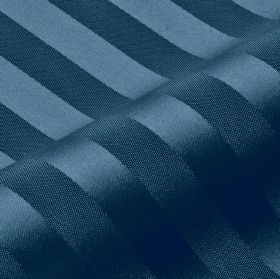 Lavina Stripe - Blue (138) - Deep Royal blue coloured stripes made with a slight sheen on fabric made from 100% Trevira CS in the same shade