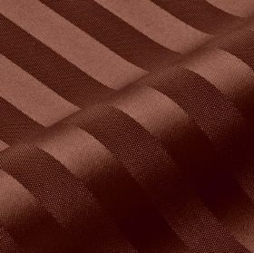Lavina Stripe - Brown (140) - Warm chocolate brown coloured, slightly shiny stripes arranged at even intervals over matching 100% Trevira CS