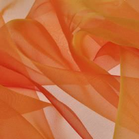 Gavotte - Orange (13) - Fabric made from thin, translucent 100% Trevira CS in a plain colour that's a blend of fiery orange and red