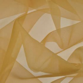 Gavotte 300cm - Orange2 - Plain light brown coloured, thin, translucent fabric made from 100% Trevira CS