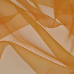 Gavotte - Orange (15) - 100% Trevira CS fabric made with a thin, translucent, burnt orange coloured finish