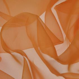 Gavotte - Orange (19) - Thin, translucent, light orange coloured 100% Trevira CS fabric
