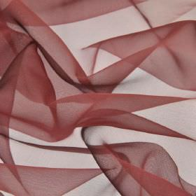Gavotte - Pink Purple (25) - Translucent fabric made from 100% Trevira CS in a plain, deep mulberry colour