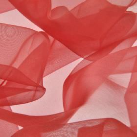 Gavotte - Red Pink (26) - Fabric made from 100% Trevira CS, finished with a thin, translucent, dark pink-red colour