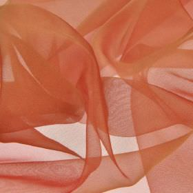 Gavotte - Red (28) - Slightly translucent dusky orange-pink coloured 100% Trevira CS fabric