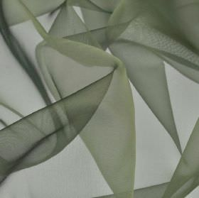 Gavotte - Green (34) - Steel grey coloured, slightly translucent, thin, plain fabric made from 100% Trevira CS