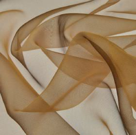Gavotte 300cm - Brown2 - Light almond brown coloured fabric made from slightly translucent 100% Trevira CS