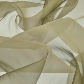 Gavotte - Green (46) - Fabric made from slightly translucent, pale grey coloured 100% Trevira CS