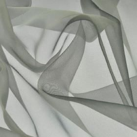 Gavotte - Grey Silver (47) - Light shades of blue and grey combined to make a slightly translucent 100% Trevira CS fabric