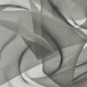 Gavotte - Grey Silver (50) - Slightly translucent iron grey coloured 100% Trevira CS fabric