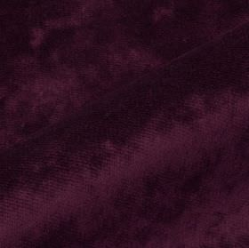 Moresco - Purple1 - Very slightly textured deep purple coloured 100% Trevira CS fabric