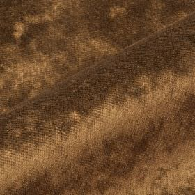 Moresco - Gold Brown - Fabric made from very slightly textured 100% Trevira CS in a warm chocolate brown colour