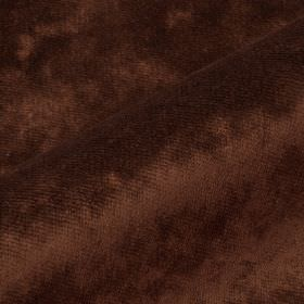 Moresco - Brown2 - Chestnut brown coloured fabric made with a slight texture from 100% Trevira CS