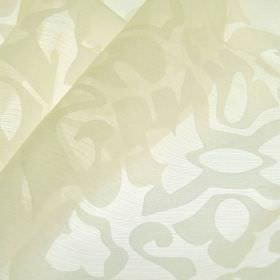 Cluny - White (3) - Very subtly patterned white fabric containing a blend of polyester and China grass