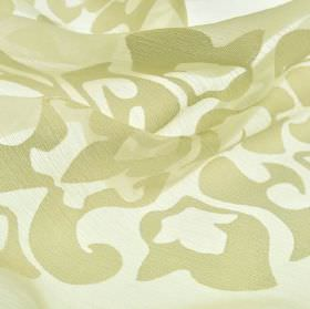 Cluny - Cream (4) - Fabric made from a combination of polyester and China grass, patterned with a simple design in white and beige