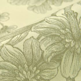 Bourdelle - Cream Beige (1) - 100% cotton fabric featuring a pattern of realistic, shaded drawings of flowers in two different light shades