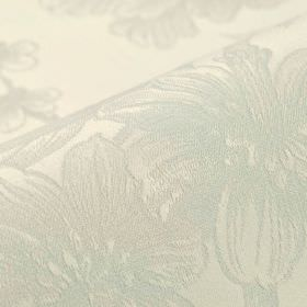 Bourdelle - Cream - Very subtle patterned fabric made from 100% cotton with a realistic, shaded floral pattern in white and very pale grey