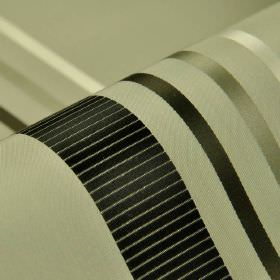 Lourmel - Cream Black (5) - Striped fabric made from 100% silk, with bands which have a slight sheen in white and various shades of grey and
