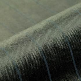 Inconel - Grey - Dralon and polyester blended together into fabric with a regular pattern of thin lines in dark grey and blue shades
