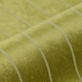 Inconel - Brown Gold - Fabric made from a striped blend of dralon and polyester in light shades of grey and gold