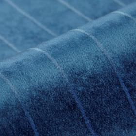 Inconel - Blue Grey (14) - Fabric made from dralon and polyester in two bright shades of blue, with a simple, thin, evenly spaced line patte