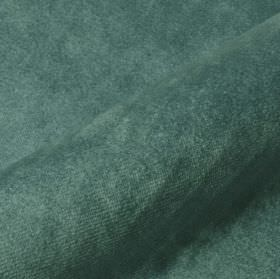 Teatro - Green (18) - Dark, dusky blue coloured dralon and polyester blend fabric featuring a very slightly textured finish