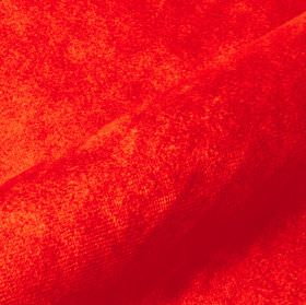 Teatro - Orange1 - Bright orange-red coloured dralon and polyester combined into a plain fabric