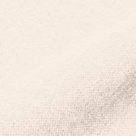 Mandrage - White (1) - Plain chalk white coloured linen and polyester blend fabric
