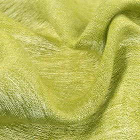 Chunga - Gold Green - Light apple green coloured threads woven together into a very thin fabric made entirely from linen