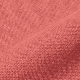 Mandrage - Coral (25) - Plain strawberry pink coloured fabric made with a mixed linen and polyester content