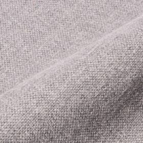Mandra - Grey (7) - Fabric made from linen and polyester in white and pale blue-grey coloured threads